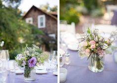 delicate floral centerpieces
