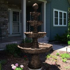 Large Selection Of Water Fountains Including The Sunnydaze Large Tiered  Ball Outdoor Fountain By Sunnydaze Decor