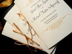 Classic Black and Gold Flourish Wedding by PinkOrchidInvites, $2.00