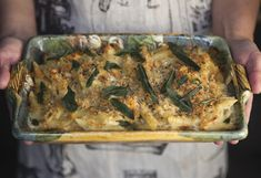 Penne Pasta Quattro Formaggi with Butternut Squash and Sage- i. mac and cheese with butternut squash and sage Potluck Dishes, Potluck Recipes, Tasty Dishes, Vegetarian Recipes, Cooking Recipes, Potluck Ideas, Pasta Recipes, Holiday Recipes, Company Casserole Recipe