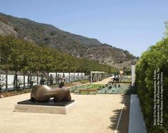 Sculpture garden at the Getty Center in L.A., designed by Robert Irwin