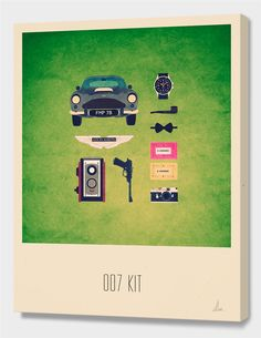 """""""007 Kit"""", Limited Edition Canvas Print by Alizée Lafon - From $85.00 - Curioos"""