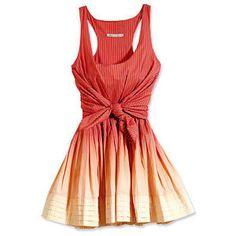soft red dress , knot in front .Twenty8Twelve