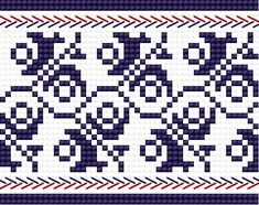 Traditional pattern from Włodawa (Polish town on the border with Belarus), early c. Use for floor cloth? Cross Stitch Bookmarks, Cross Stitch Borders, Cross Stitch Designs, Cross Stitching, Cross Stitch Embroidery, Embroidery Patterns, Cross Stitch Patterns, Fair Isle Knitting Patterns, Fair Isle Pattern