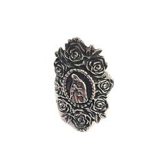 Our Lady of Guadalupe Rose Sterling Silver Ring