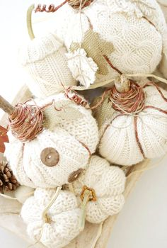 An EASY Fall project! - DIY Sweater Pumpkins - No sewing required.