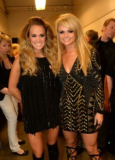 Carrie Underwood and Miranda Lambert at the CMT Music Awards