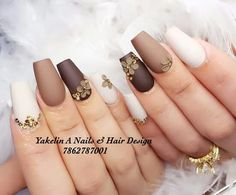 Are you looking for fall acrylic nail colors design for this autumn? See our collection full of cute fall acrylic nail colors design ideas and get inspired! Nude Nails, Gel Nails, Nail Nail, Gorgeous Nails, Pretty Nails, Uñas Color Cafe, August Nails, Santa Nails, Exotic Nails
