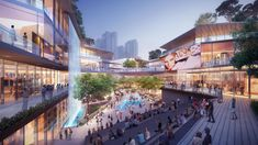 Luneng Mixed Use Development Retail Architecture, Commercial Architecture, Futuristic Architecture, Plaza Design, Mall Design, Commercial Complex, Commercial Street, Mix Use Building, Building Design