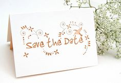 Save The Date Cards | Laser Cut & Printed - Hummingbird Card Company
