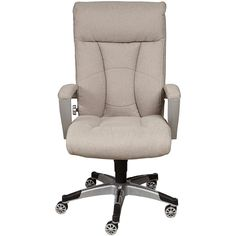 Pulaski Sealy Posturepedic Office Chair ($270) ❤ liked on Polyvore featuring home, furniture, chairs, office chairs, padded chairs, swivel chairs, swivel desk chair, spinning wheel chair and spinning chair