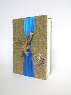 Gästebuch aus Leinen mit Treibholz
