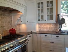 Small Idea Kitchen Backsplash Ideas For White Cabinets Black Countertops Neat Wall Wooden Shelf Decor Idea Small Space White Gloss Cabinet Illuminated Cabinet And Shelving Cream Tile Backsplash