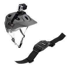 New Black Vented Adjustable Head Helmet Strap Belt Go Pro Mount Holder Adapter For Sport Gopro HD Hero 1 2 3 Camera Accessories
