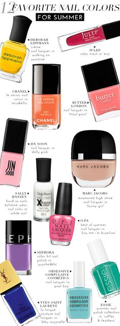 12 Favorite Nail Colors For Summer | theglitterguide.com