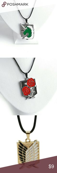 Hot Necklace Anime Attack on Titans New Necklace.. made in Japan.. Hot Quality.. Waterproof.. 100% silver MEIRENPEIZI Accessories Jewelry