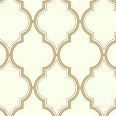 "Kashmir 27' x 27"" Trellis Wallpaper"