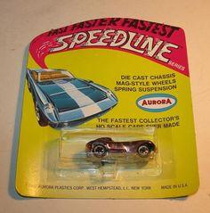 1968 AURORA SPEEDLINE CIGAR BOX CAR CHEETAH #6133 MOC. Blister pack packaging. Rose Chrome