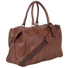 Buy John Lewis Gladstone Leather Holdall Online at johnlewis.com