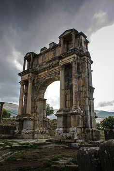 The Roman Arch of Caracalla, Djémila, Algeria