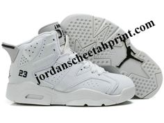 the best attitude 23128 a3d53 Nike Air Jordan 6 Shoes Kids White For Sale