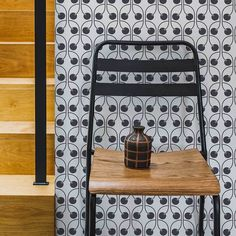 Cherry by Layla Faye - Monochrome - Wallpaper : Wallpaper Direct Trellis Wallpaper, Downstairs Bathroom, True Colors, Monochrome, Cherry, Art Deco, Black And White, Modern, Inspiration