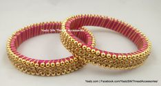 Price For Orders, Whatsapp to 8754032250 We Ship to All Countries Silk Thread Bangles Design, Silk Bangles, Bridal Bangles, Thread Jewellery, Fashion Jewellery, Women's Fashion, Tatting Jewelry, Beaded Jewelry, Handmade Jewelry