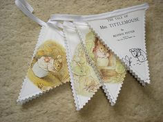 Beatrix Potter bunting  Tale of Mrs Tittlemouse by TheGiftShed, £10.00