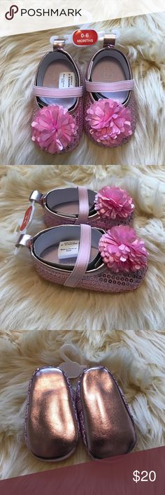 🎉HOST PICK🎉 Esprit Baby Pink Sparkly Shoes Esprit Baby Pink Sparkly Shoes 0-6 Months Esprit Shoes