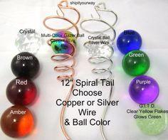 2x Wind Spinner Crystal   Gazing Ball Spiral Cyclone Swivel Yard Decor