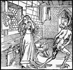"""""""El diablo y la coqueta"""", Augsburg, 1498. http://iglesiadesatan.com/"""
