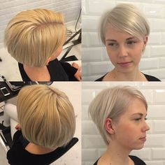short stacked bob haircut for fine hair