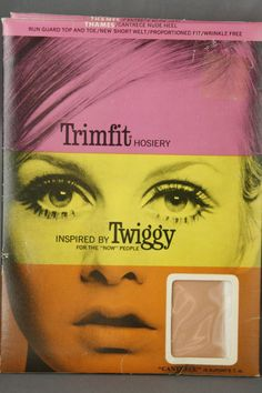 2 Vtg Trimfit Nylon Stockings Stay Ups Thames Cantrece Insp by Twiggy Size 9 1/2