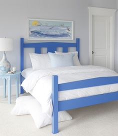 Choose Maine Cottage® for a colorful, coastal style Bed, Daybed and other casual home furnishings. Coastal Bedrooms, Guest Bedrooms, Guest Room, Coastal Cottage, Coastal Decor, Bedroom Bed, Bedroom Furniture, Bedroom Decor, Periwinkle Bedroom