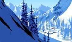 Visual Development Art from The Art of Frozen Disney Insider Articles Landscape Concept, Fantasy Landscape, Landscape Art, Landscape Paintings, Concept Art Books, Disney Concept Art, Disney Art, Disney Insider, Environment Painting