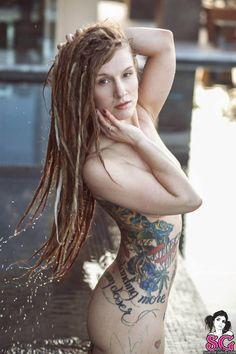 Teenage girl models naked