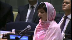 Malala Yousafzai - 2013 Nobel Peace Prize Nominee, UN Speech from July 2013. We need more people like Malala in the world.