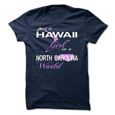Cool V5-HAWAII-NORTHCAROLINA GIRL Shirts & Tees
