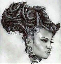 Title of Artwork: Mama Africa put on the libra scale and tree of life Black Love Art, Black Girl Art, Art Girl, Black Girls, Natural Hair Art, Pelo Natural, African American Art, African Art, African American Tattoos