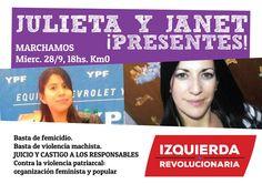 Desde el miércoles 21 de septiembre, dos mujeres mendocinas se encontraban desaparecidas: Janet Zapata y Julieta González. Sus familias hicieron la denuncia y organizaron la búsqueda. Ayer apareció el cuerpo sin vida de Janet y hoy el de Julieta. Dos nuevos femicidios se suman a las cifras del horror de la violencia machista. Este miércoles 28 se realizará en la Ciudad de Mendoza una marcha para rechazar la violencia machista.