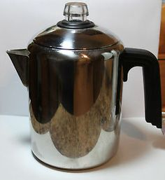 Farberware Coffee Pot Ss 4 6 8 Cup Stainless Steel Stove Top Percolator