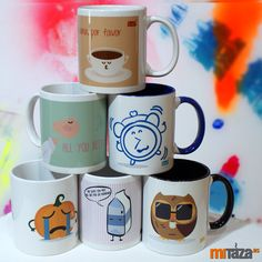 Tazas originales by Andrea Candamio   #mugs #diseño #regalos
