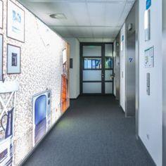 Wallcovering | Textielframe. Wandbekleding verlicht textielframe met wisselbaar fotodoek