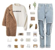 L.A. by rbalogun on Polyvore featuring polyvore, fashion, style, WearAll, Mimi Holliday by Damaris, Birkenstock, Louis Vuitton, Casetify, Aromatique, John Lewis, Le Labo, Crate and Barrel, CB2, The Elephant Family and Izola
