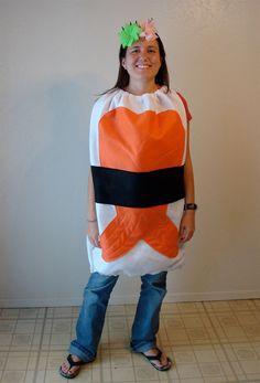 Sushi Costume- Adult Costume- Teen Costume- Halloween Costume- Sushi. $70.00, via Etsy.