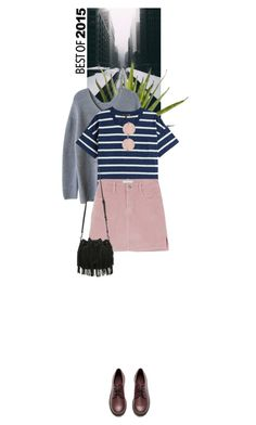 """""""Stripes and Pastels"""" by dancingwithyou ❤ liked on Polyvore featuring rag & bone, H&M, Linda Farrow, Rebecca Minkoff and bestof2015"""