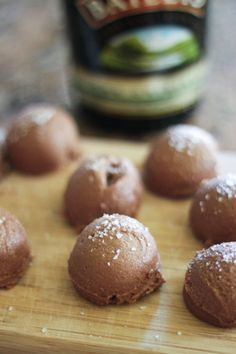 Salted Bailey's chocolate truffles. they were mostly raw and vegan until i added the alcohol portion ;)