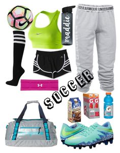 """""""Soccer"""" by brittany-lc on Polyvore featuring NIKE, Under Armour, adidas and Patagonia"""