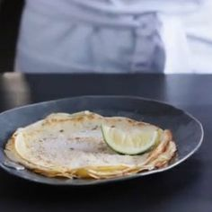 A recipe for easy paper thin pancakes or crepes. Delicious Recipes, Yummy Food, Healthy Recipes, Thin Pancakes, Deli Food, Toddler Lunches, Cooking Instructions, Non Stick Pan, Breakfast Dessert