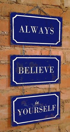 Conj. 3 Placas Correntes Always Believe